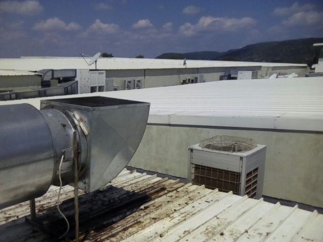Extractor fans installation at Moruleng mall2